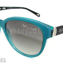 Authentic Tiffany & Co. Pearl Green Cat Eye Sunglass Tf 4109 - 81723c New Photo