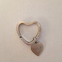 Authentic Tiffany & Co Sterling Silver Heart Key Chain Photo