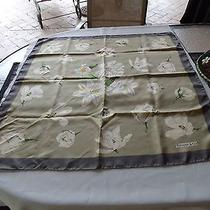 Authentic Tiffany & Company  Large Square Olive & Coco Flower Scarf Magnificent