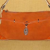 Authentic Tod's Genuine Leather Small Orange Shoulder Bag Photo