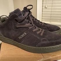 Authentic Tods Mens Boots Size 7eu High Top Sneakers Blue Photo