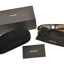 Authentic Tom Ford Sunglasses Eye Wear Black Gold Vintage Made in Italy R02707 Photo