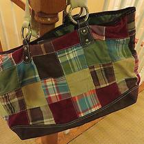 Authentic Tommy  Hilfiger Patchwork Handbag Satchel Bag Carry-on Luggage Photo