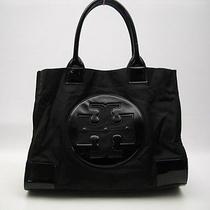 Authentic Tory Burch Black Nylon/patent Leather Ella Tote - Retail  195 Photo