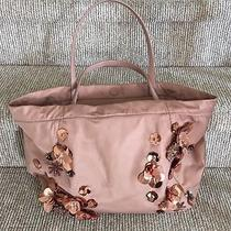 Authentic Tory Burch Blush Flower Cluster Tote - Used One Time - Euc Photo