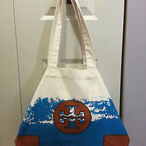 Authentic Tory Burch Canvas Shopper Tote Photo