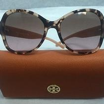 Authentic Tory Burch Sunglasses Ty 7077 135114 Blush Marble Brown W/ Case 175 Photo