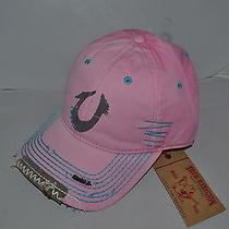 Authentic True Religion Baseball Cap Hat Tr1125 True Pink Blue   Brand New Photo