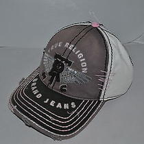 Authentic True Religion Baseball Cap Hat Tr1315 Grey Black  Brand New Photo