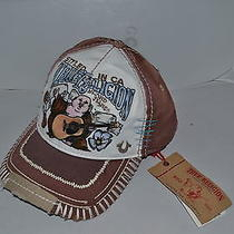 Authentic True Religion Baseball Cap Hat Tr1506  Brown White  Brand   New Photo