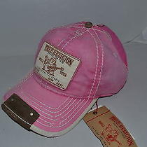 Authentic True Religion Baseball Cap Hat Tr1597 Fuchsia Pink Linen   Brand New Photo