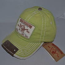 Authentic True Religion Baseball Cap Hat Tr1597 Green  Linen   Brand New Photo