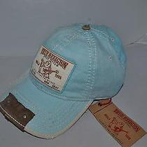 Authentic True Religion Baseball Cap Hat Tr1597 Light Blue Linen  Brand New Photo