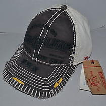 Authentic True Religion Baseball Cap Hat Tr1598  Grey Off White   Brand   New Photo