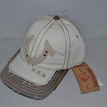 Authentic True Religion Baseball Cap Hat Tr1600 Off White  Mesh Back New Photo