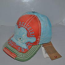Authentic True Religion Baseball Cap Hat Tr1601 Orange  Blue Green  New Photo