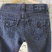 Authentic True Religion Black Jeans Billy Seat 34 Photo
