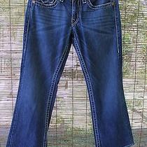 Authentic True Religion Dark Blue Jeans Billy Big T Seat 34 Disco Distressed Photo