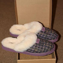 Authentic Ugg Australia Cozy Tweed 1001630 Rum Womens Slippers New Size 11 Photo