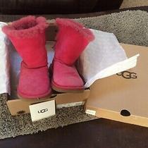 Authentic Ugg Bailey Bow Cerise Pink Boots Usa Size 5 Woman Junior Bailey Bow Ii Photo