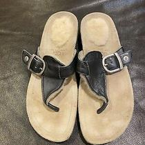 Authentic Ugg Sandals Dark Gray and Beige Neutral Size 8 Euc Photo