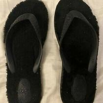 Authentic Ugg Womans Flip Flops Size 9 Euc Black Photo
