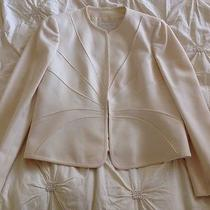 Authentic Valentino Womens Off White Jacket-Euc Photo
