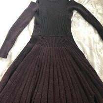 Authentic Versace Cold Shoulder Ribbed Wool Sweater Dress Size 38 It Photo