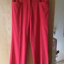 Authentic Versace Jeans Couture Red Summer Casual Lightweight Trousers Sz 10 38 Photo