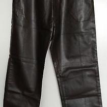 Authentic Versace Leather Classic V2 Mens Vintage/rare Brown Pants Size 34 Dress Photo