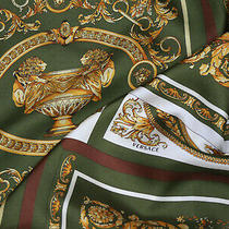 Authentic Versace Made in Italy  Pure Silk Twill Soft Baroque  Fabric Cm 200x140 Photo