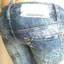 Authentic Very Rare Dsquared Painted Jeans size.36 Mod. S75la0230 Photo