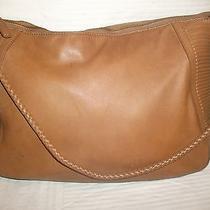 Authentic via Spiga Soft Pebbled Shoulder Hobo Tote Slouchy Leather Handbag Photo