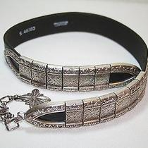 Authentic Vintage 1994 Brighton Silver Plated Chain Belt - 33 Photo