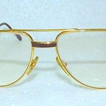 Authentic Vintage Cartier 135 Gold Lacquer Sunglasses Eyeglasses 56-16 Photo