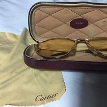 Authentic Vintage Cartier Reading Glasses 24k Gold Plated Photo