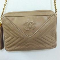 Authentic Vintage Chanel Leather Camera Handbag Bag Purse Tote Photo