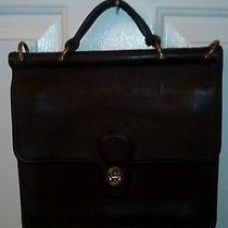 Authentic Vintage Coach  Leather Mini Book Bag Clutch Hand Bag Purse J8y-9927 Photo