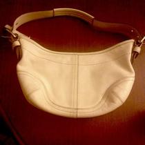 Authentic Vintage Coach Off White Leather Hobo Handbag  Photo