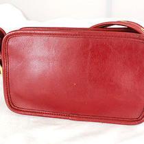 Authentic Vintage Coach Red Leather Sm Cross-Body Shoulder Bag Handbag  Purse Photo