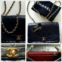 Authentic Vintage Coco Chanel Navy Leather Caviar Mark Chain Bag - Very Rare  Photo