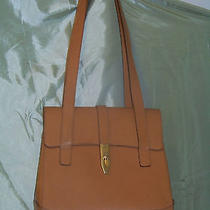 Authentic Vintage Gently Used Celine Paris Handbag  Luggage Tan W Brass Accents Photo
