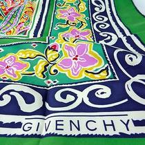 Authentic Vintage Givenchy Paris Pure Silk Scarf Superb Paisley Photo