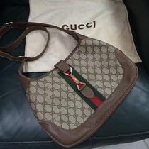 Authentic Vintage Gucci Monogram Jackie O Handbag Purse 13