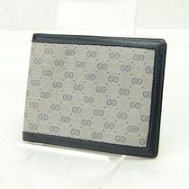 Authentic  Vintage Gucci Wallet  Made in Italy Dark Blue Pvc 32037 Photo