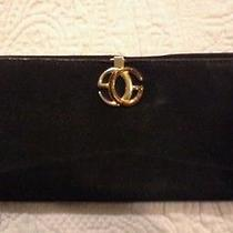 Authentic Vintage  Gucci Wallet Purse Black Suede Leather  Photo
