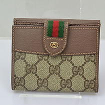 Authentic  Vintage Gucci Wallet Sherry Browns Pvc 31665 Photo