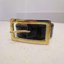 Authentic Vintage High End Moschino Black Leather Belt Size 30-33 Photo