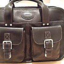 Authentic Vintage Leather Fossil Briefcase / Computer Bag Photo