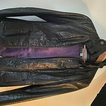 Authentic Vintage Marc New York Leather Jacket Womens Size Xs Purple Lining Photo